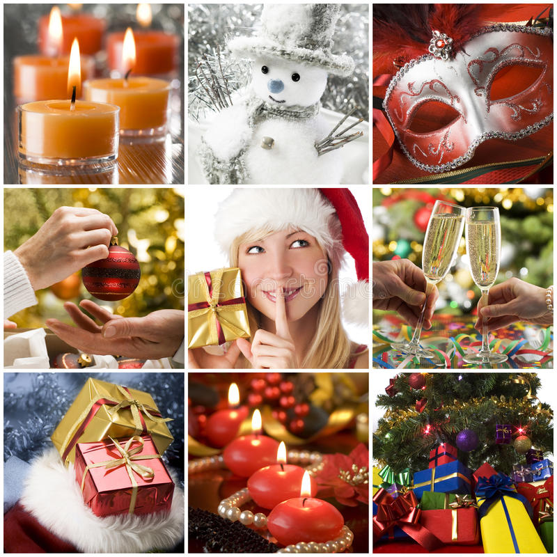 Christmas collage royalty free stock images