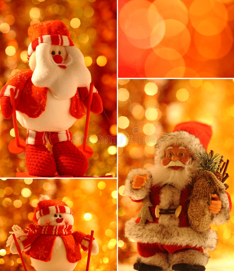 Download Christmas collage stock photo. Image of colorful, celebrate - 17014562