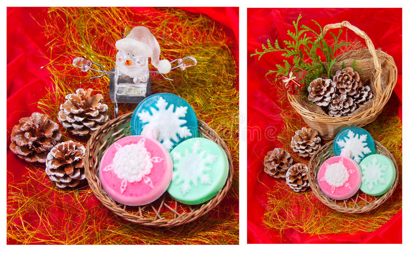 Download Christmas   Collage With Snowflakes - Soap Stock Image - Image: 27664881