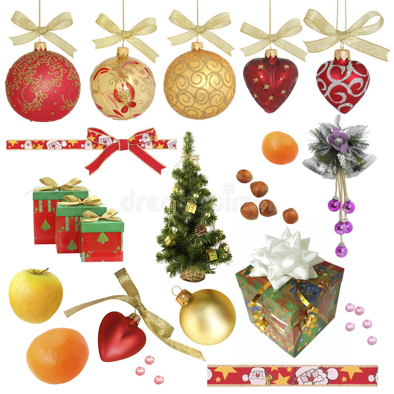 Download Christmas Collection / Isolated Objects Stock Image - Image of holiday, gold: 6810043
