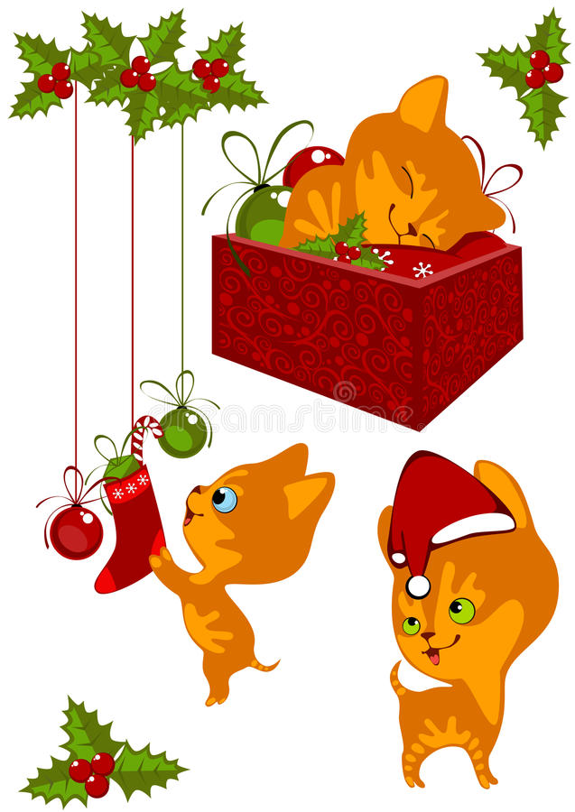 Free Christmas Collection Kittens 2 Stock Image - 21527971