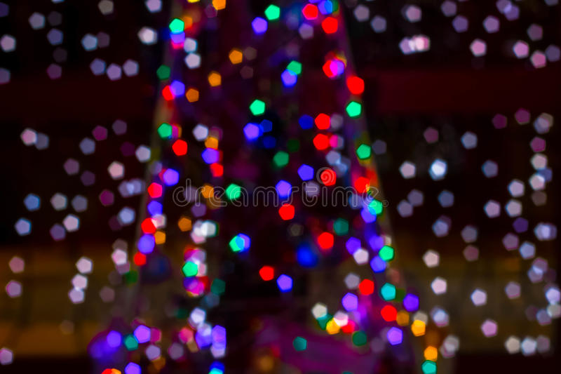 Christmas colored fireflies royalty free stock photo