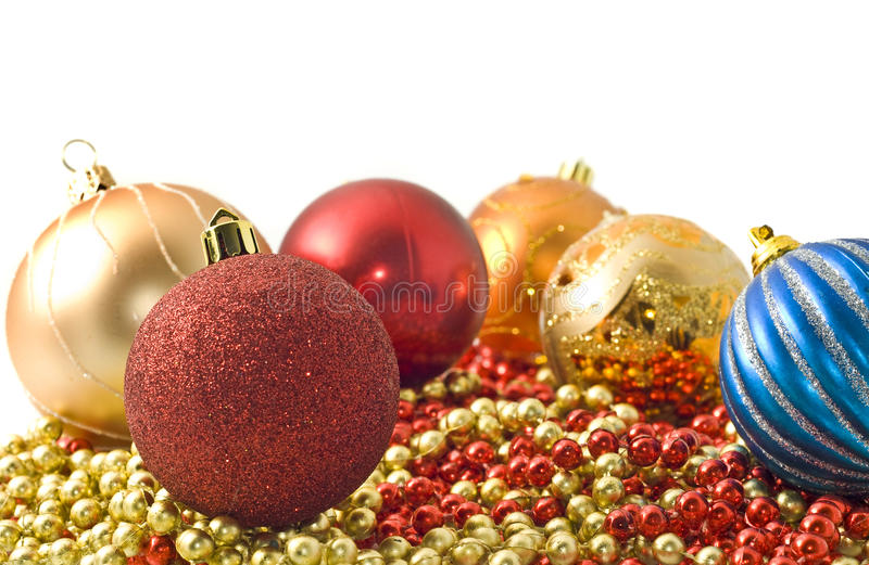 Download Christmas - Colorful Decoration Baubles And Beads Stock Photo - Image: 12008002
