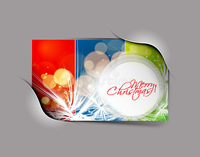 Christmas colorful design stock illustration