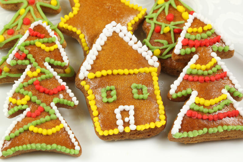 Download Christmas Colorful Gingerbread Cookies Stock Photo - Image of christmas, color: 12507722