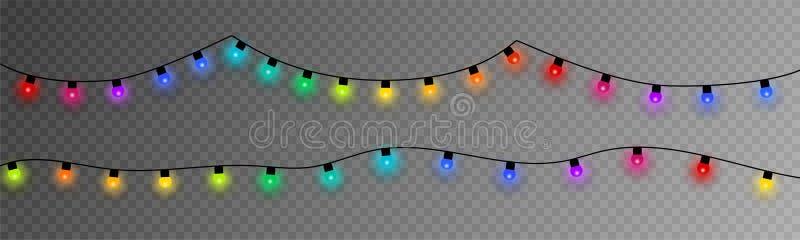 christmas colorful lights EPS10 ελεύθερη απεικόνιση δικαιώματος
