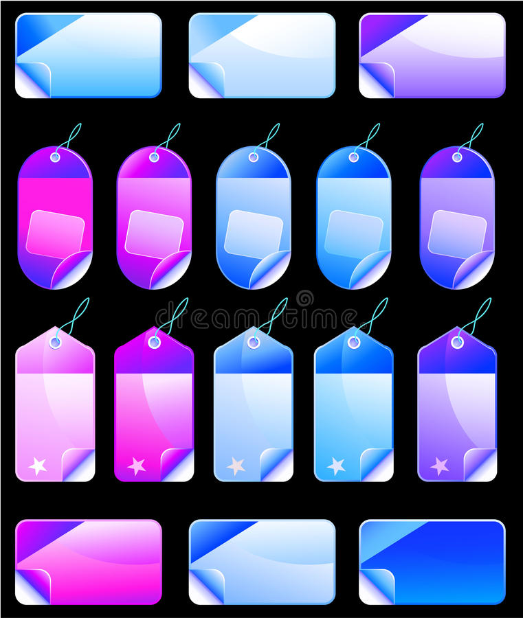 Download Christmas Colorful Promotional Sales Price Labels Stock Photo - Image: 11960280