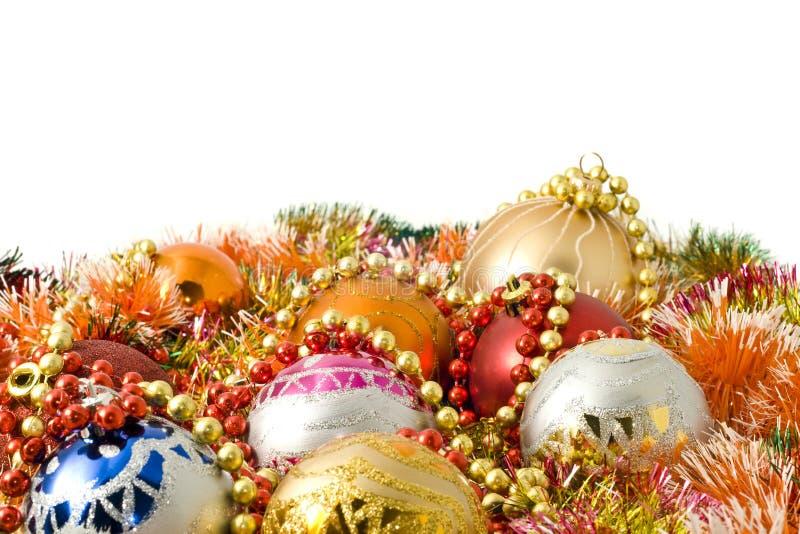 Download Christmas. Colorful Tinsel And Balls Stock Photo - Image: 11813044