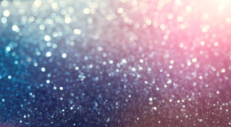 Christmas colorful vintage background. Holiday glowing backdrop. Defocused Background With Blinking Stars. New Year Blurred pastel Bokeh, Abstract Colorful stock illustration