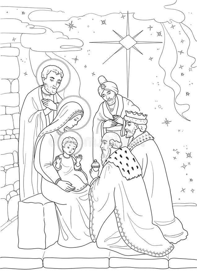 Christmas. Coloring page . royalty free stock images