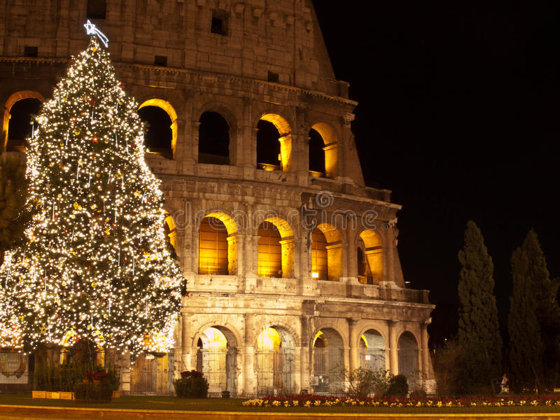 Download Christmas at Colosseum stock image. Image of holiday - 28848011
