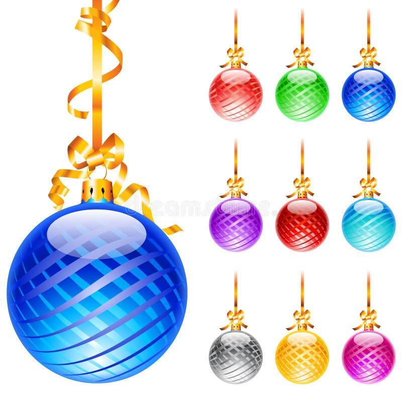 Christmas colourful balloons stock photo