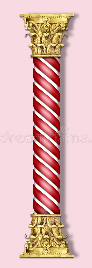 Christmas column in red royalty free illustration