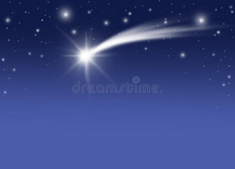 Christmas comet. The bright Comet in the Christmas night