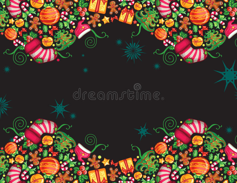 Christmas composition 2 royalty free illustration