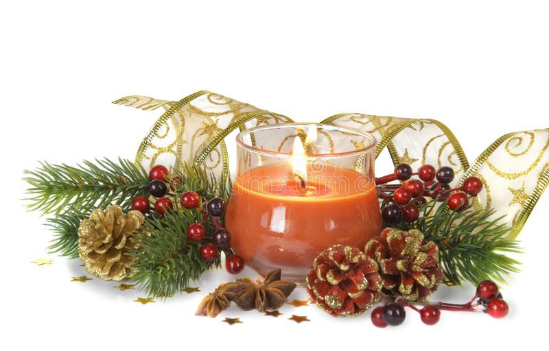 Download Christmas composition stock photo. Image of cone, background - 28277528