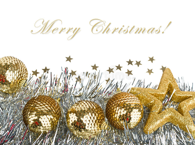 Download Christmas Composition With Balls And Stars Stock Image - Image: 21983987