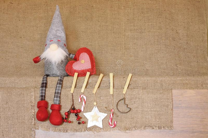 Christmas Composition Noel Gnome Backgrougifts Red
