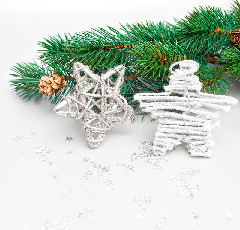 christmas composition with stars royalty free stock photos