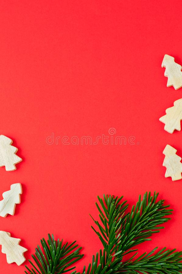 Christmas concept background with pine tree royalty free stock image
