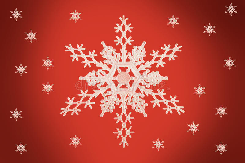 Christmas concept Snow Flake. Snow Flake with smaller snow flakes in the background vector illustration
