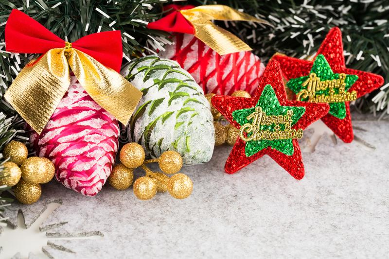 Christmas cones royalty free stock photos
