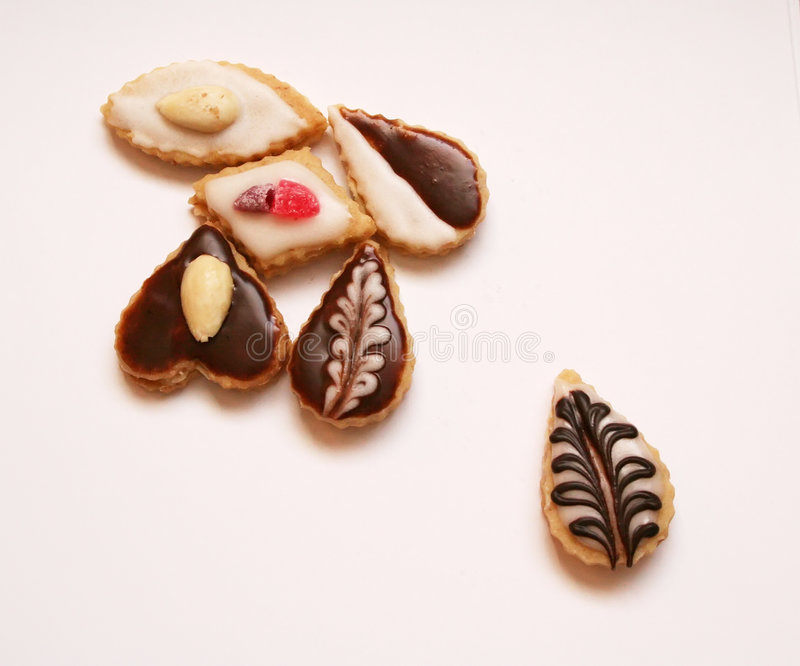 Christmas confectionery. On white background royalty free stock photos