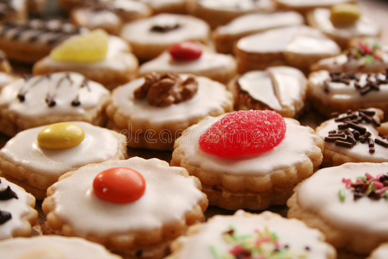 Christmas confectionery. On white background royalty free stock images