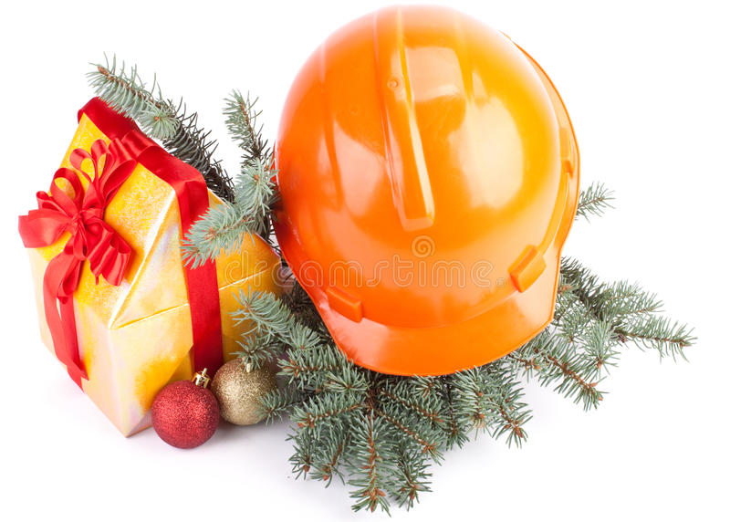 Christmas construction stock photo