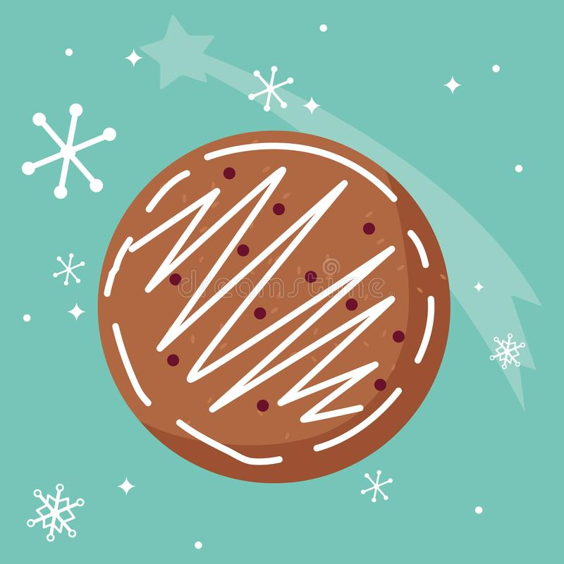 Christmas cookie icon. Over blue background, vector illustration royalty free illustration