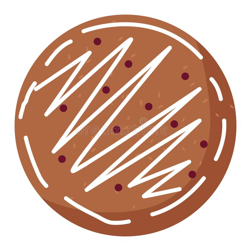 Christmas cookie icon. Over white background, vector illustration vector illustration