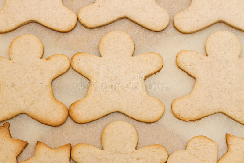Christmas cookie in shape of man royalty free stock photography