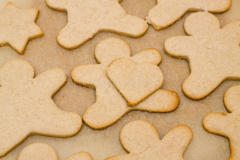 Christmas cookie in shape of man stock photography
