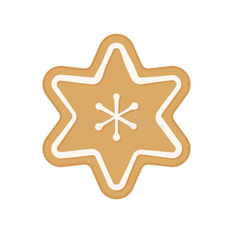 Christmas cookie - vector. Gingerbread cookie. Star. Snowflake cookie isolated. On white background vector illustration