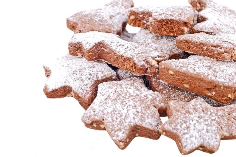 Christmas cookie on white stock photos