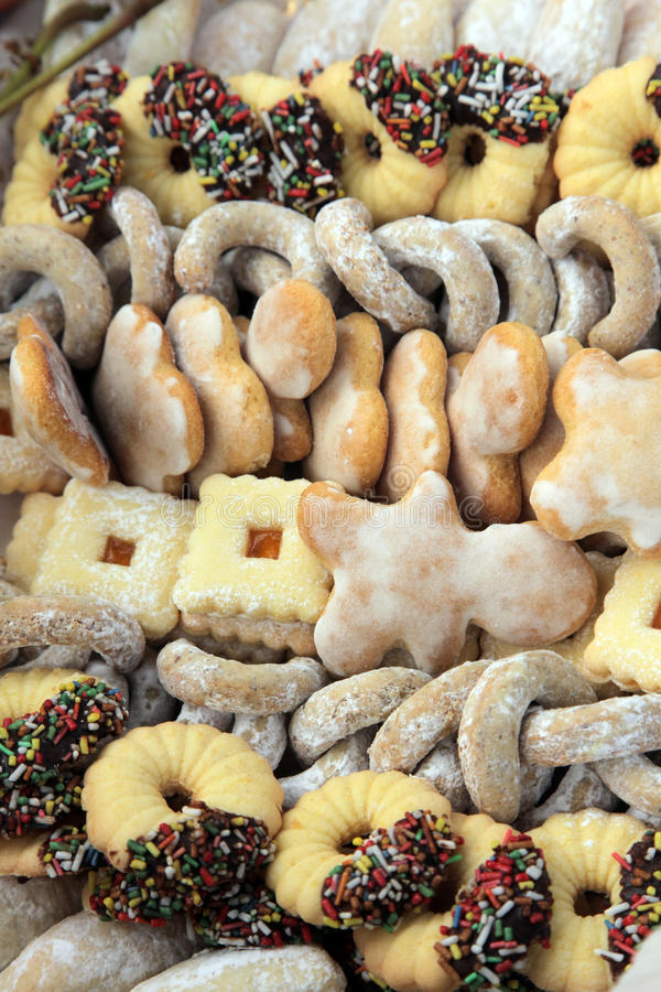 Christmas cookies. A plate with selfmade christmas cookies royalty free stock images