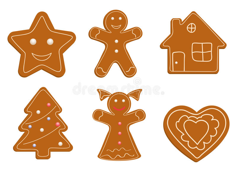 Download Christmas cookies stock vector. Image of brown, front - 16786217