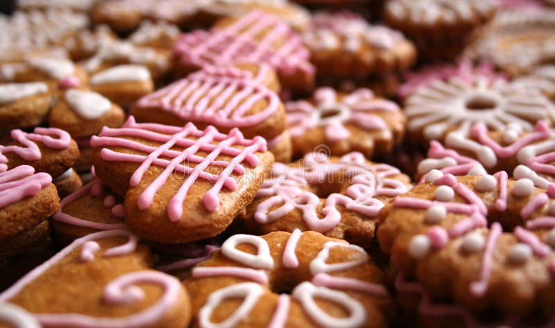 Christmas cookies. Detail of the cookies stock photography