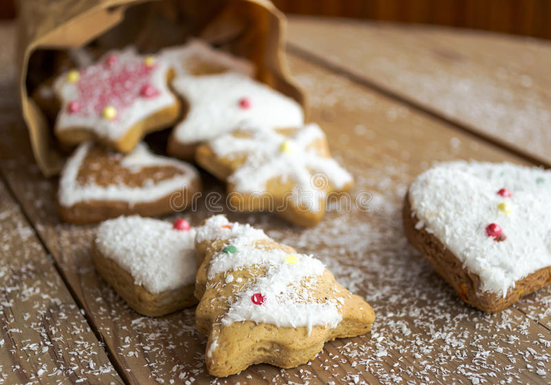 Download Christmas cookies stock photo. Image of gingerbread, brown - 28103496