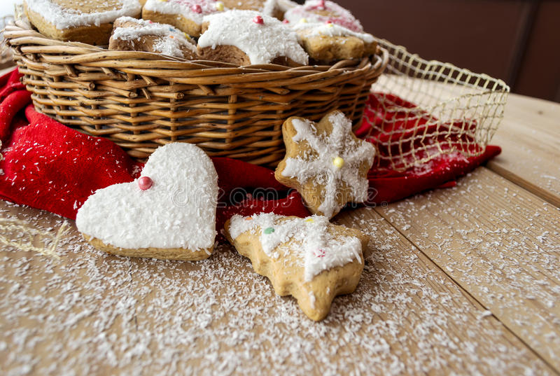 Download Christmas cookies stock photo. Image of gingerbread, snow - 28103514