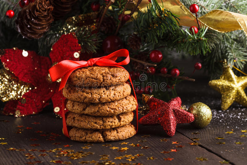 Download Christmas cookies stock photo. Image of celebrating, background - 28180456