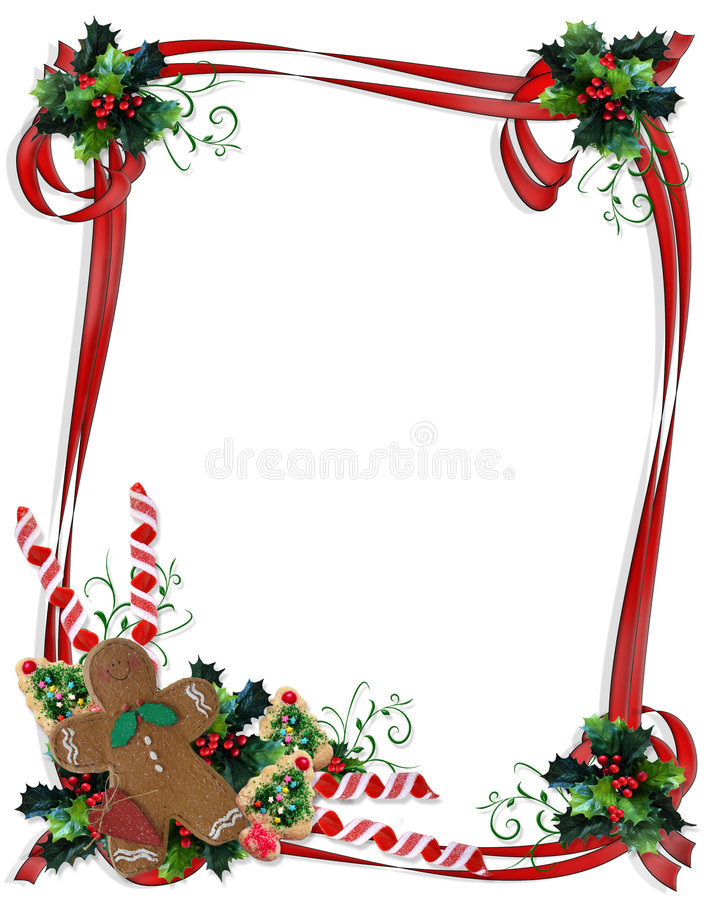 Free Christmas Cookies And Treats Border Royalty Free Stock Photo - 6754875