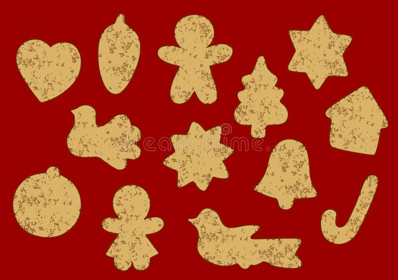 Christmas cookies background vector illustration
