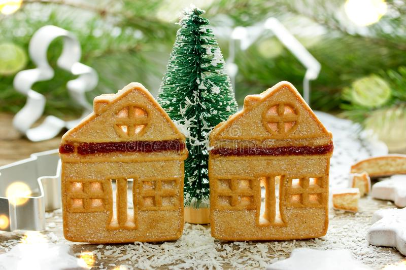 Christmas cookies, fun and festive Christmas holiday treats royalty free stock images