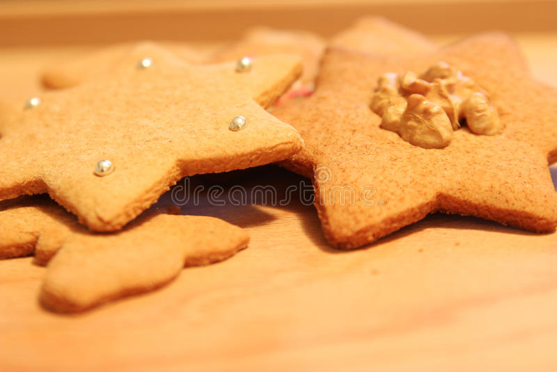 Christmas cookies. Christmas ginger cookie at christmas time stock photos