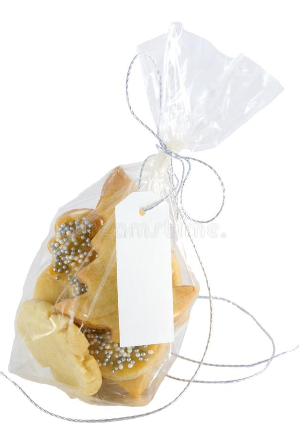 Christmas Cookies  With Label With Copyspace Stock Photo