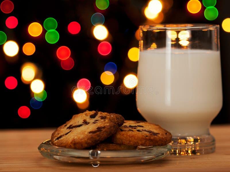 Christmas cookies and milk II stock photography
