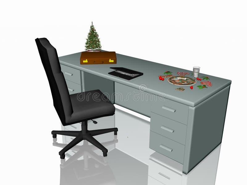 Christmas cookies on office desk. vector illustration