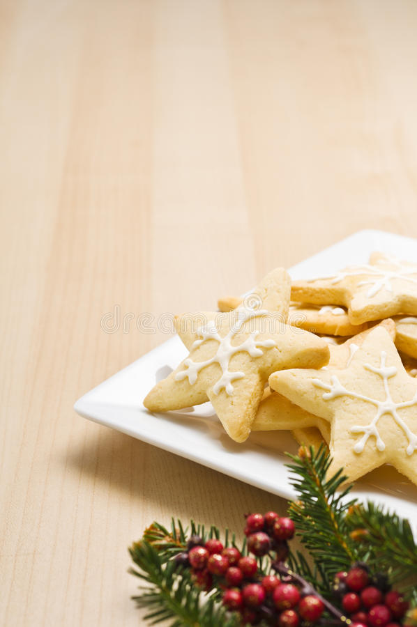Download Christmas Cookies On A Plate Stock Photo - Image: 21476076