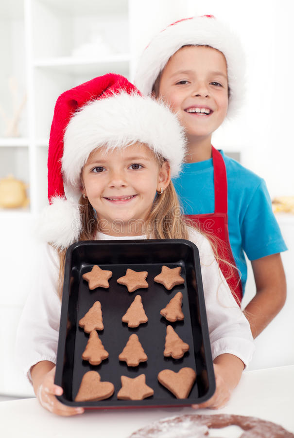 Christmas cookies are ready royalty free stock images